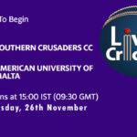 SCCC vs AUM Live Score, ECS Malta T10, SCCC vs AUM Scorecard Today, SCCC vs AUM Lineup