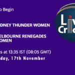 STW vs MRW Live Score, Match 44, Women's Big Bash League 2020/21, STW vs MRW Scorecard Today, STW vs MRW Lineup