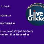 TIG vs PAN Live Score, Match 18, Pondicherry T20 Tournament, 2020, TIG vs PAN Scorecard Today, TIG vs PAN Lineup