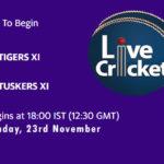 TIG vs TUS Live Score, Match 25, Pondicherry T20 Tournament, TIG vs TUS Scorecard Today, TIG vs TUS Lineup