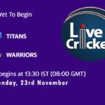 TIT vs WAR Live Score, Match 8, 4-Day Franchise Series, 2020/21, TIT vs WAR Scorecard Today, TIT vs WAR Lineup