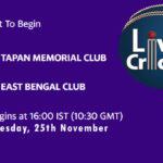 TMC vs EBC Live Score, Bengal T20 Challenge, TMC vs EBC Scorecard Today, TMC vs EBC Lineup