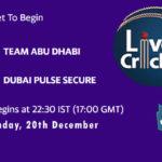ABD vs DPS Live Score, Emirates D20 Tournament, ABD vs DPS Scorecard Today, ABD vs DPS Lineup