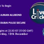 AJM vs DPS Live Score, Emirates D20 Tournament, Ajman vs Dubai Scorecard Today, AJM vs DPS Lineup