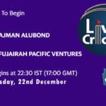 AJM vs FPV Live Score, Emirates D20 Tournament, AJM vs FPV Scorecard Today, AJM vs FPV Lineup