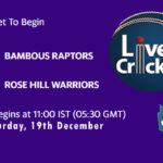 BR vs RHW Live Score, Mauritius Cric10 League, BR vs RHW Scorecard Today, BR vs RHW Lineup
