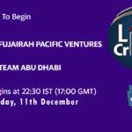 FPV vs ABD Live Score, Emirates D20 Tournament, Fujairah vs Abu Dhabi Scorecard Today, FPV vs ABD Lineup