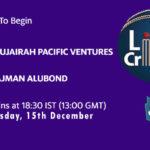 FPV vs AJM Live Score, Emirates D20 Tournament, FPV vs AJM Scorecard Today, FPV vs AJM Lineup