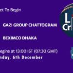GGC vs BD Live Score, Bangabandhu T20 Cup, GGC vs BD Scorecard Today, GGC vs BD Lineup