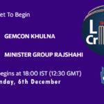 GK vs MGR Live Score, Bangabandhu T20 Cup, GK vs MGR Scorecard Today, GK vs MGR Lineup