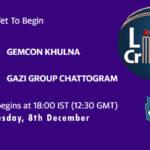 GKH vs GGC Live Score, Bangabandhu T20 Cup, GKH vs GGC Scorecard Today, GKH vs GGC Lineup