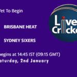 HEA vs SYS Live Score, Big Bash League, HEA vs SYS Scorecard Today, HEA vs SYS Lineup