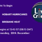 HOH vs HEA Live Score, Big Bash League, HOH vs HEA Scorecard Today, HOH vs HEA Lineup