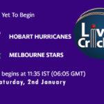 HOH vs STA Live Score, Big Bash League, HOH vs STA Scorecard Today, HOH vs STA Lineup
