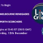 MLR vs PRS Live Score, Big Bash League, MLR vs PRS Scorecard Today, MLR vs PRS Lineup