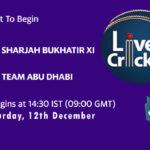 SBX vs ABD Live Score, Emirates D20 Tournament, Sharjah vs Abu Dhabi Scorecard Today, SBX vs ABD Lineup