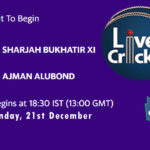 SBX vs AJM Live Score, Emirates D20 Tournament, SBX vs AJM Scorecard Today, SBX vs AJM Lineup
