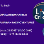 SBX vs FPV Live Score, Emirates D20 Tournament, SBX vs FPV Scorecard Today, SBX vs FPV Lineup