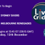 SYS vs MLR Live Score, Big Bash League, SYS vs MLR Scorecard Today, SYS vs MLR Lineup