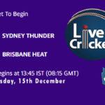 SYT vs BRH Live Score, Big Bash League, SYT vs BRH Scorecard Today, SYT vs BRH Lineup