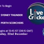 SYT vs PRS Live Score, Big Bash League, SYT vs PRS Scorecard Today, SYT vs PRS Lineup