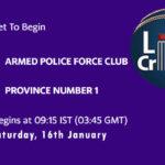 APFC vs PRN1 Live Score, Prime Minister Cup, 2021, APFC vs PRN1 Scorecard Today Match, Playing XI, Pitch Report