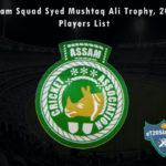 Assam Squad Syed Mushtaq Ali Trophy, 2021 Players List
