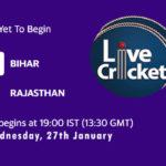 BIH vs RJS Live Score, Quarter-Final 4, Syed Mushtaq Ali Trophy 2020-21, BIH vs RJS Scorecard Today Match, Playing XI, Pitch Report