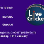 BRD vs GUJ Live Score, Syed Mushtaq Ali Trophy, 2021, BRD vs GUJ Scorecard Today Match, Playing XI, Pitch Report