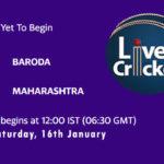 BRD vs MAH Live Score, Syed Mushtaq Ali Trophy, 2021, BRD vs MAH Scorecard Today Match, Playing XI, Pitch Report