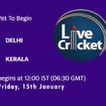 DEL vs KER Live Score, Syed Mushtaq Ali Trophy, 2021, DEL vs KER Scorecard Today Match, Playing XI, Pitch Report