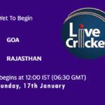 GOA vs RJS Live Score, Syed Mushtaq Ali Trophy, 2021, GOA vs RJS Scorecard Today Match, Playing XI, Pitch Report