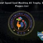 Gujarat Squad Syed Mushtaq Ali Trophy, 2021 Players List