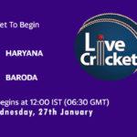 HAR vs BRD Live Score, Quarter-Final 3, Syed Mushtaq Ali Trophy 2020-21, HAR vs BRD Scorecard Today Match, Playing XI, Pitch Report