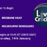 HEA vs REN Live Score, Big Bash League, 2020-21, HEA vs REN Scorecard Today Match, Playing XI, Pitch Report