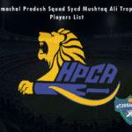 Himachal Pradesh Squad Syed Mushtaq Ali Trophy, 2021 Players List