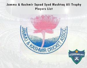 Jammu & Kashmir Squad Syed Mushtaq Ali Trophy, 2021 Players List