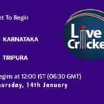 KAR vs TRP Live Score, Syed Mushtaq Ali Trophy, 2021, KAR vs TRP Scorecard Today Match, Playing XI, Pitch Report