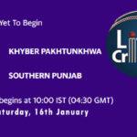 KHP vs SOP Live Score, Pakistan Cup, 2021, KHP vs SOP Scorecard Today Match, Playing XI, Pitch Report