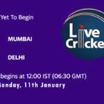 MUM vs DEL Live Score, Syed Mushtaq Ali Trophy, Dream11 Fantasy Cricket Tips, Playing XI, Pitch Report