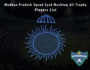 Madhya Pradesh Squad Syed Mushtaq Ali Trophy, 2021 Players List