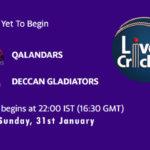 QAL vs DG Live Score, Abu Dhabi T10 League, QAL vs DG Scorecard Today Match, Playing XI, Pitch Report