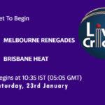 REN vs HEA Live Score, Big Bash League, 2020/21, REN vs HEA Scorecard Today Match, Playing XI, Pitch Report