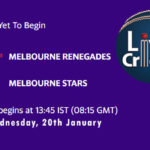 REN vs STA Live Score, Big Bash League, 2020/21, REN vs STA Scorecard Today Match, Playing XI, Pitch Report
