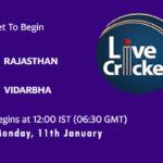 RJS vs VID Live Score, Syed Mushtaq Ali Trophy, Dream11 Fantasy Cricket Tips, Playing XI, Pitch Report