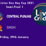 SIN vs CEP Live Score, Semi-Final 1, Pakistan One Day Cup, SIN vs CEP Scorecard Today Match, Playing XI, Pitch Report