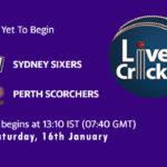 SIX vs SCO Live Score, Big Bash League, 2020/21, SIX vs SCO Scorecard Today Match, Playing XI, Pitch Report