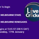 STA vs REN Live Score, Big Bash League, 2020/21, STA vs REN Scorecard Today Match, Playing XI, Pitch Report