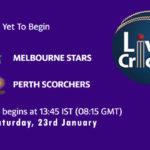 STA vs SCO Live Score, Big Bash League, 2020/21, STA vs SCO Scorecard Today Match, Playing XI, Pitch Report
