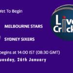 STA vs SIX Live Score, Big Bash League, 2020/21, STA vs SIX Scorecard Today Match, Playing XI, Pitch Report